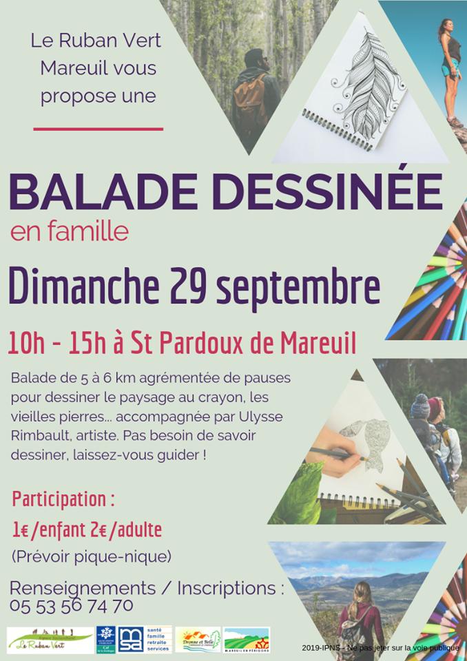 Rando-dessinée @ St Pardoux de Mareuil