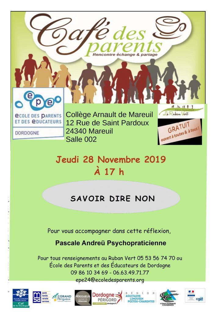 Café des parents @ Collège de Mareuil-en-Périgord